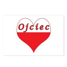 Ojciec Polish Heart Postcards (Package of 8)