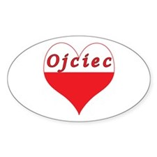 Ojciec Polish Heart Decal