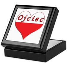 Ojciec Polish Heart Keepsake Box