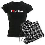 I Love My Fans Women's Dark Pajamas
