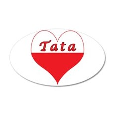 Tata Polish Heart 35x21 Oval Wall Decal