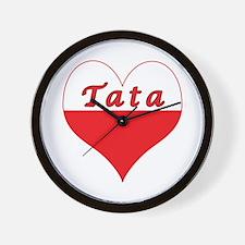 Tata Polish Heart Wall Clock