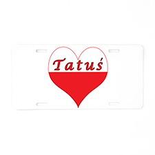 Tatus Polish Heart Aluminum License Plate