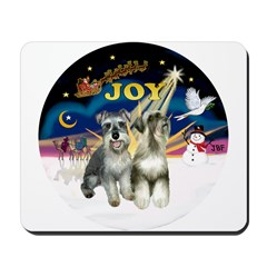 JoyWreath-2Schnauzers (uncr) Mousepad