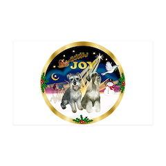 JoyWreath-2Schnauzers (uncr) Wall Decal