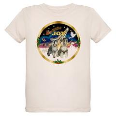 JoyWreath-2Schnauzers (uncr) T-Shirt