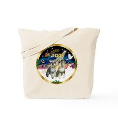 JoyWreath-2Schnauzers (uncr) Tote Bag