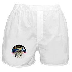JoyWreath-2Schnauzers (uncr) Boxer Shorts