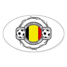 Belgium Soccer Oval Decal