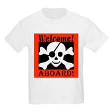 Welcome Aboard the Caribbean  Kids T-Shirt