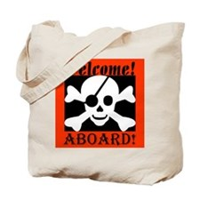 Welcome Aboard the Caribbean  Tote Bag