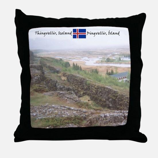 Dream-like Thingvellir Throw Pillow