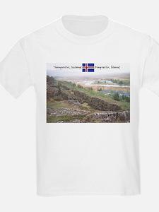 Dream-like Thingvellir Kids T-Shirt