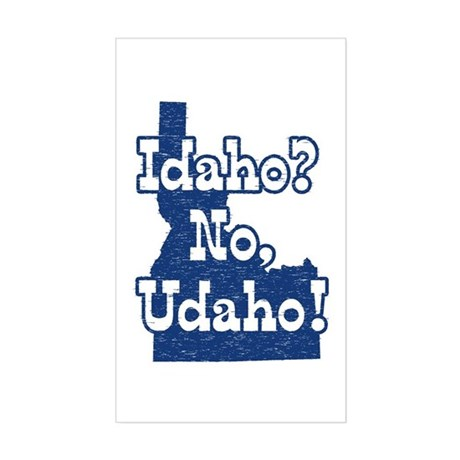 Idaho No Udaho Rectangle Sticker