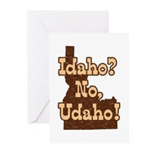 Idaho No Udaho Greeting Cards (Pk of 10)