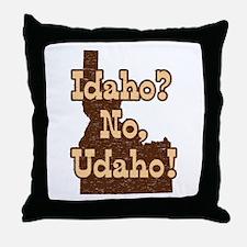 Idaho No Udaho Throw Pillow
