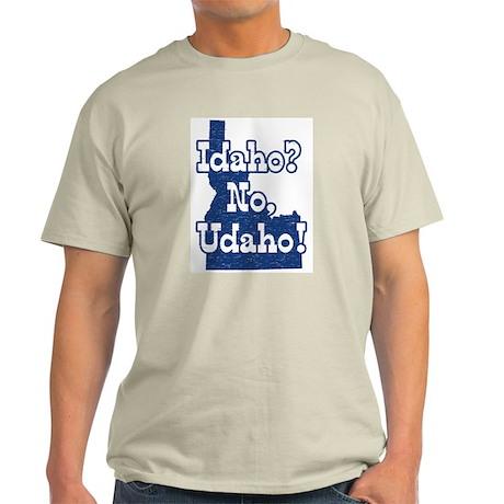 Idaho No Udaho Ash Grey T-Shirt