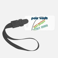 Pole Vault Jumper Sprinter Insane Luggage Tag
