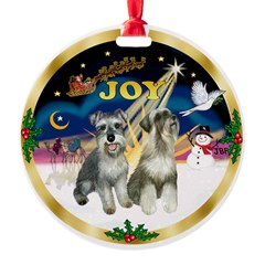 JoyWreath-2Schnauzers Ornament