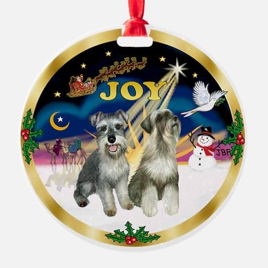 JoyWreath-2Schnauzers Ornament