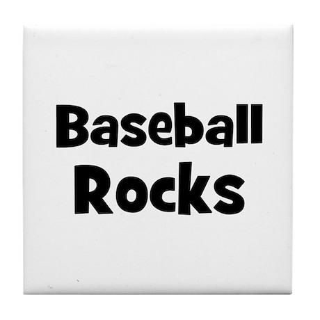 BASEBALL Rocks Tile Coaster