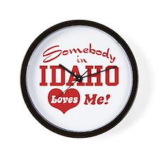 Somebody in Idaho Loves Me Wall Clock