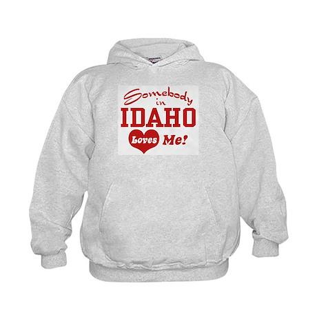 Somebody in Idaho Loves Me Kids Hoodie