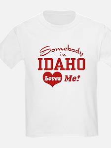 Somebody in Idaho Loves Me Kids T-Shirt