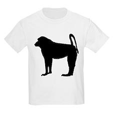 Baboon (Silhouette) Kids T-Shirt