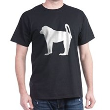 Baboon (Silhouette) Black T-Shirt