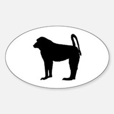Baboon (Silhouette) Oval Decal