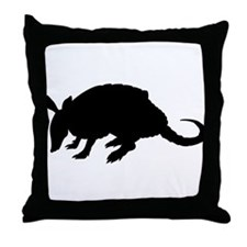 Armadillo (Silhouette) Throw Pillow