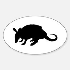 Armadillo (Silhouette) Oval Decal