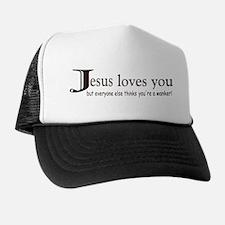 Jesus Loves You (Rude) Trucker Hat