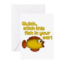STICK THIS FISH IN YOUR... Greeting Cards (Package