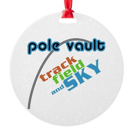 Pole Vault Track Field Sky Round Ornament