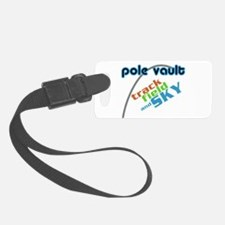 Pole Vault Track Field Sky Luggage Tag