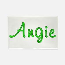 Angie Glitter Gel Rectangle Magnet