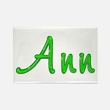 Ann Glitter Gel Rectangle Magnet