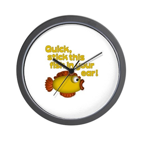 STICK THIS FISH IN YOUR... Wall Clock