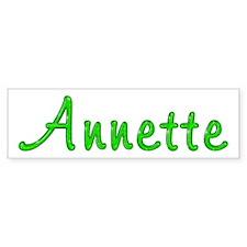 Annette Glitter Gel Bumper Bumper Sticker