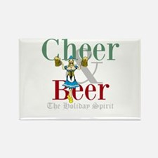Cheer Beer Holiday Spirit Rectangle Magnet