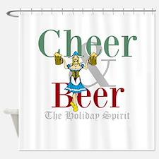 Cheer Beer Holiday Spirit Shower Curtain