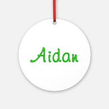 Aidan Glitter Gel Round Ornament