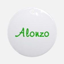 Alonzo Glitter Gel Round Ornament