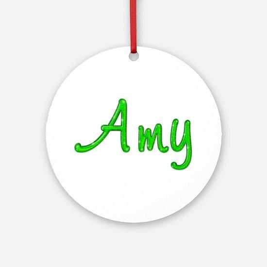 Amy Glitter Gel Round Ornament