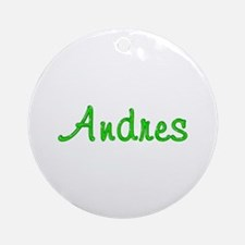 Andres Glitter Gel Round Ornament