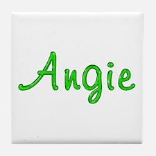 Angie Glitter Gel Tile Coaster