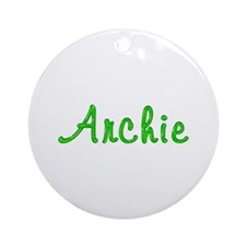 Archie Glitter Gel Round Ornament