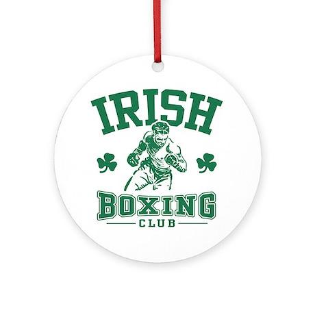 Irish Boxing Ornament (Round)